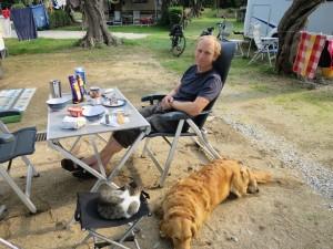 unsere Gäste beim Frühstück